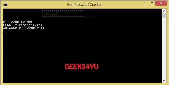 rar password cracker cmd