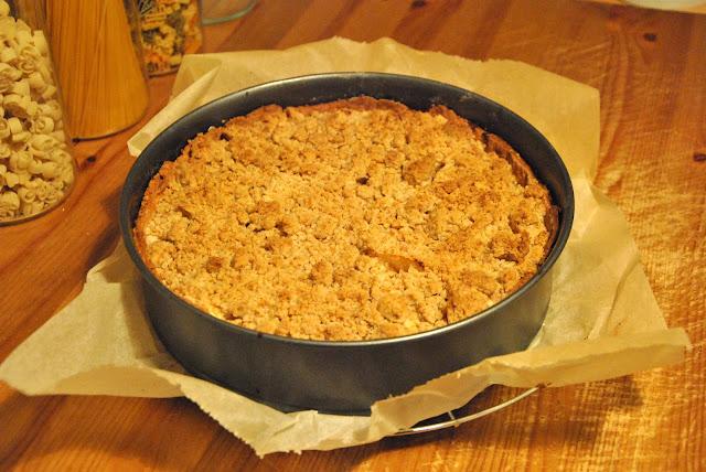 Apfelkuchen frisch aus dem Ofen