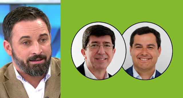 PP y C's rehenes de Vox en Andalucía: Abascal amenaza con romper el Tripartito