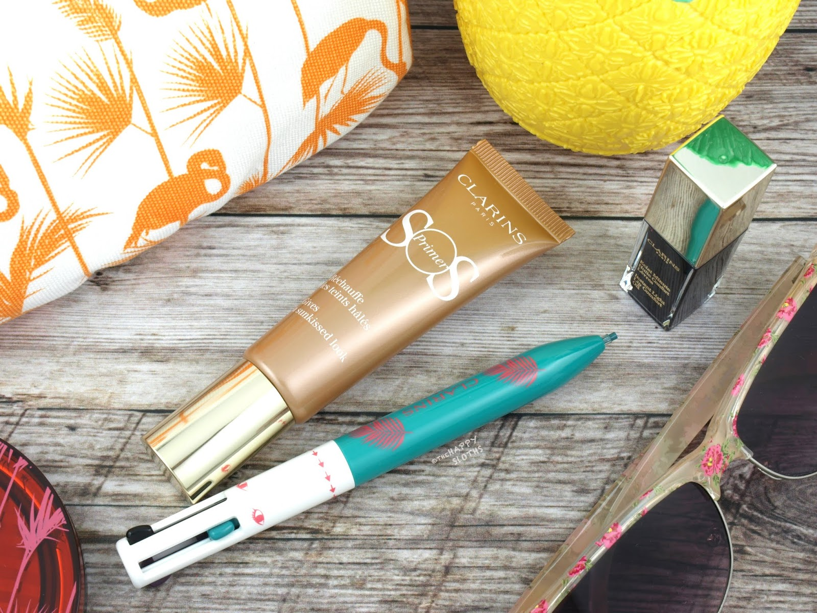 "Clarins | Summer 2018 SOS Primer in ""06 Bronze"" & 4-Color All-in-One-Pen: Review and Swatches"
