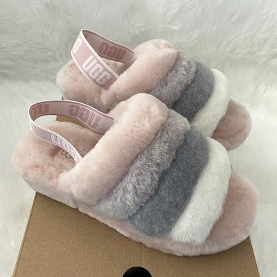 ugg fluff yeah sandals quartz multi pink