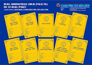 Buku Administrasi Umum PAUD,buku administrasi lembaga paud tk,jual buku administrasi paud tk