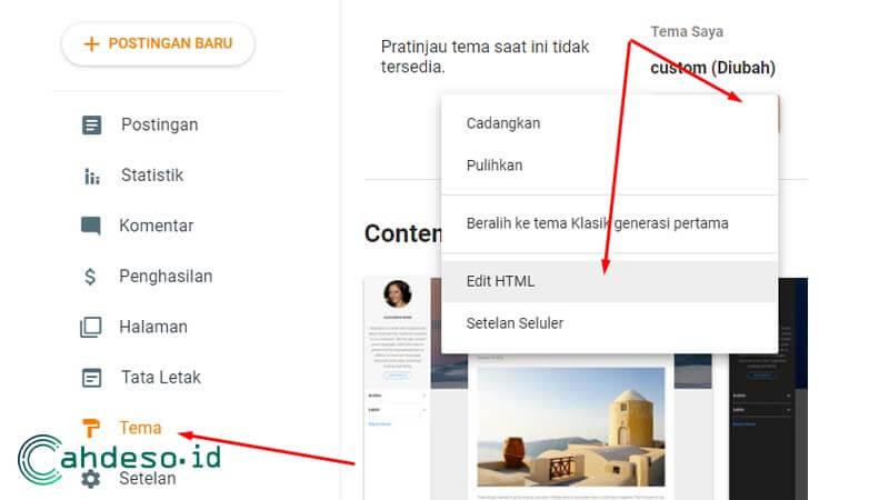 Cara Redirect Blogspot ke Website Lain
