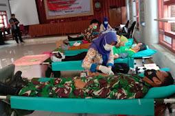 Peduli Sosial Babinsa Koramil 23/Ceper Melalui Donor Darah