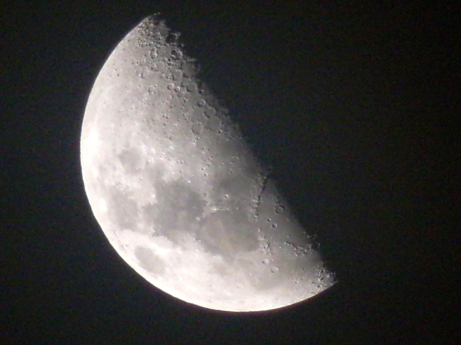 Lunas y Luces : Luna 05 de Enero 2017 Cuarto Creciente. 23 hs 44 m ...