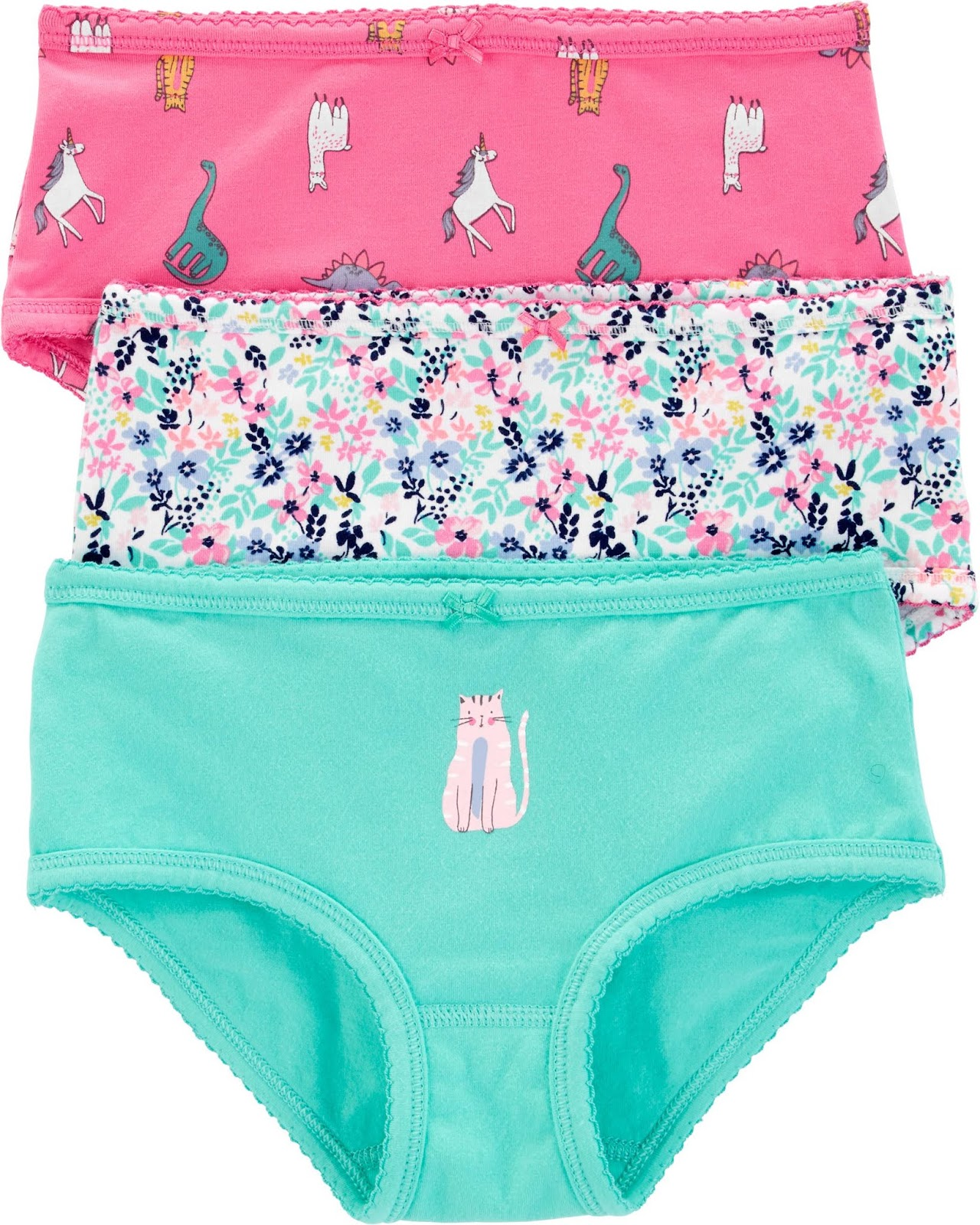 Carters 3 Pack Girl Underwear