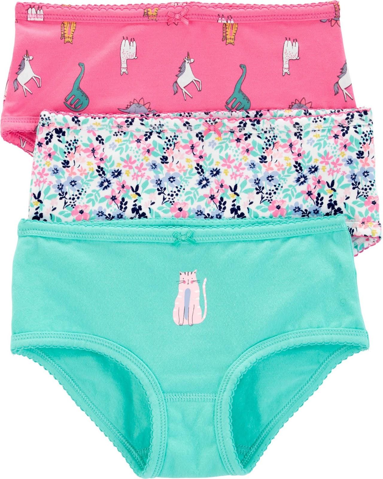 Carters 3 Pack Girl Underwear