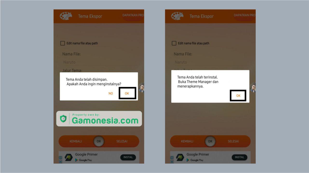 cara memasang tema xiaomi hasil download