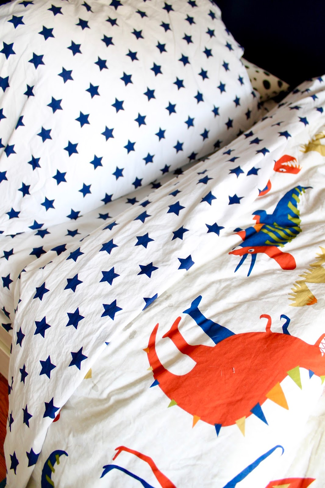 Simple  out their kid us bedding options they ure so good Thankfully they both agreed on the Dino Land Kids Comforter I loved mixing it with the star sheets