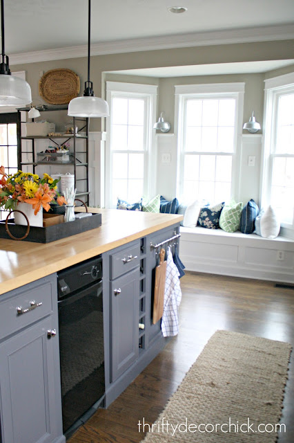 How to extend a kitchen island
