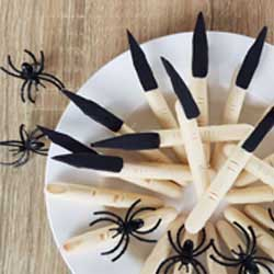how to cook no bake chocolate witches fingers for halloween DIY tutorial