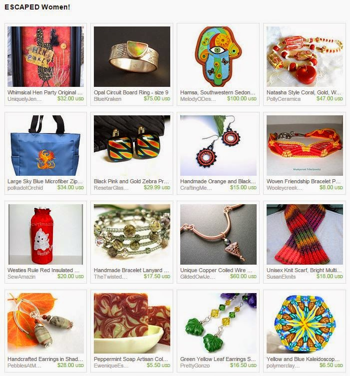 Escaped Women, a treasury by 2GlassThumbs on Etsy