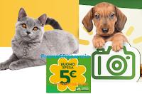 Logo Isola dei Tesori '' Un Tesoro da Copertina'': scarica un buono spesa da 5€ gratis e il tuo Pet diventa protagonista!