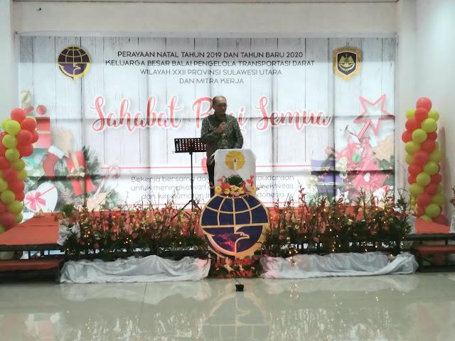 Jadi Agenda Tahunan. BPTD Wilayah XXII Sulut Gelar Natal 2019 dan Tahun Baru 2020