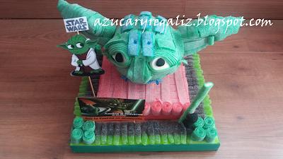 Tarta Yoda azucaryregaliz.blogspot.com
