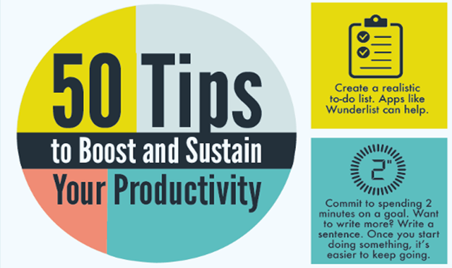 50 Ways You Can Boost Your Productivity in 2020 #infographic
