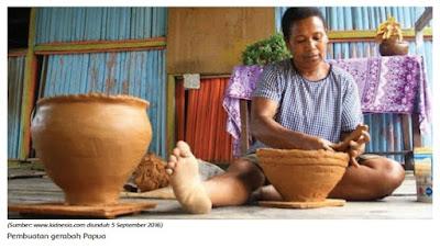Pembuatan gerabah Papua www.simplenews.me