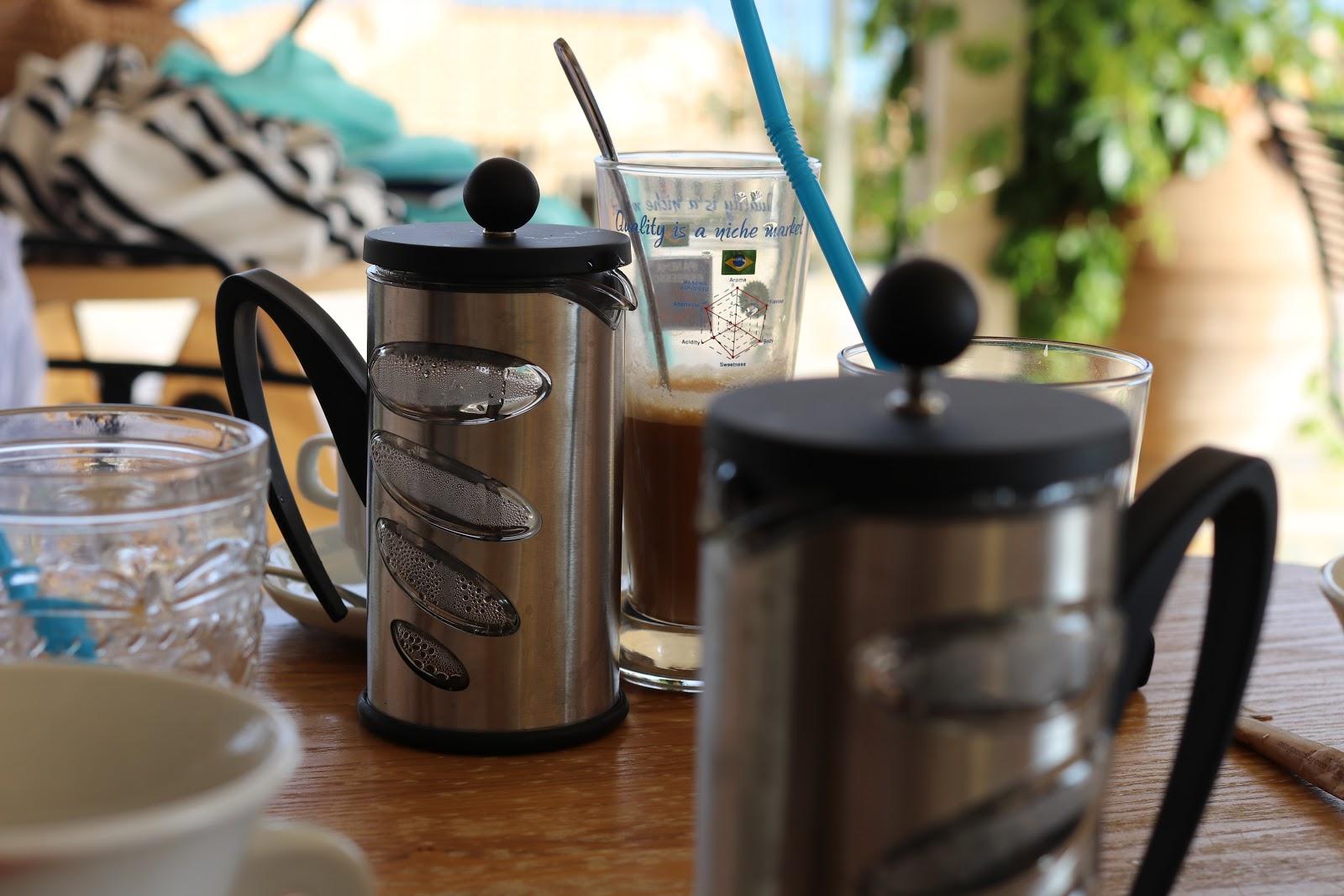 coffee at breakfast, F Zeen Resort, Unique Villas, Kefalonia