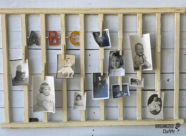 Photo of crib rail photo display