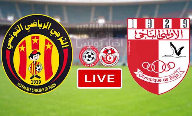 Match ES Tunis - Taraji vs Olympique Béja Live Stream