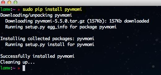 Early Xmas gift from VMware – pyVmomi (vSphere SDK for Python)