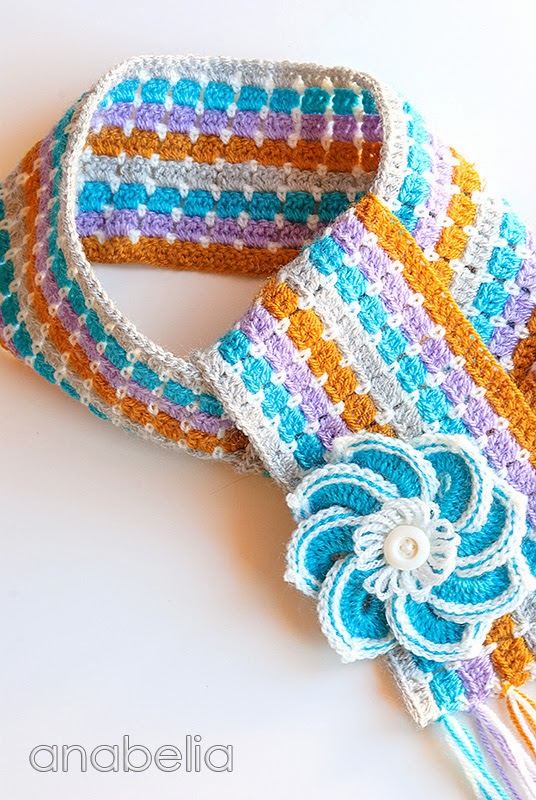 Scarf and brooch by Anabelia