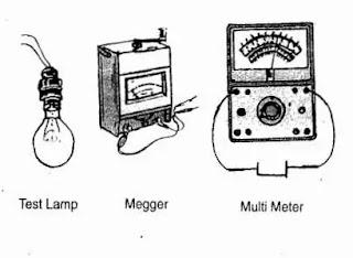testing equipment electric work