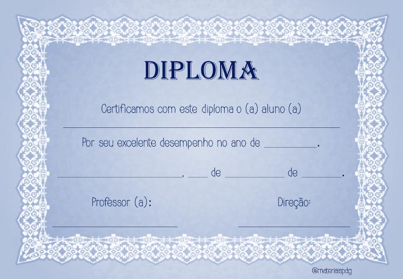 MODELOS DE DIPLOMINHA