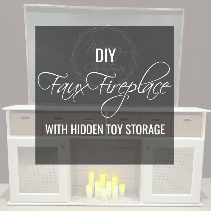 DIY Faux Fireplace With Extra Useful Hidden Toy Storage