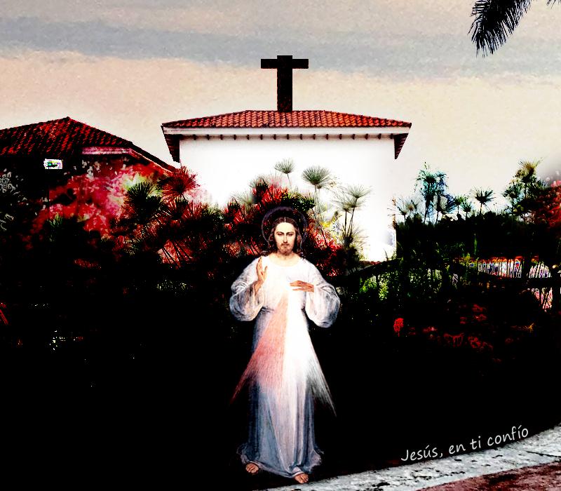 divina misericordia esperando en la iglesia