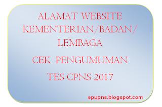alamat website untuk mengetahui mengecek formasi kebutuhan kuota cpns pns penerimaan 2017 kementerian dan lembaga