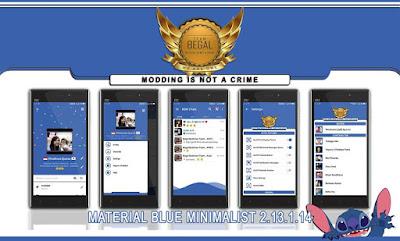 BBM Material Blue Minimalist v2.13.1.14 Juli 2016