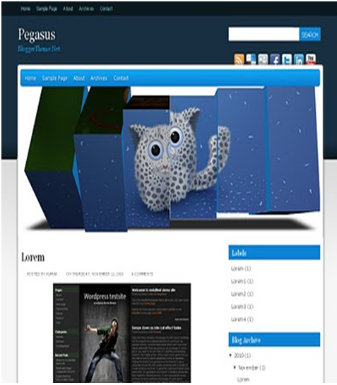Pegasus Blogger Template