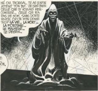 La Mort dans Thorgal aime s'écouter parler