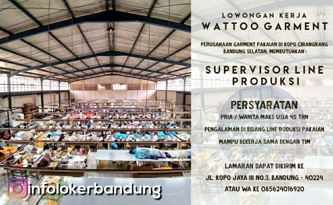 Lowongan Kerja Wattoo Garment Bandung Desember 2018