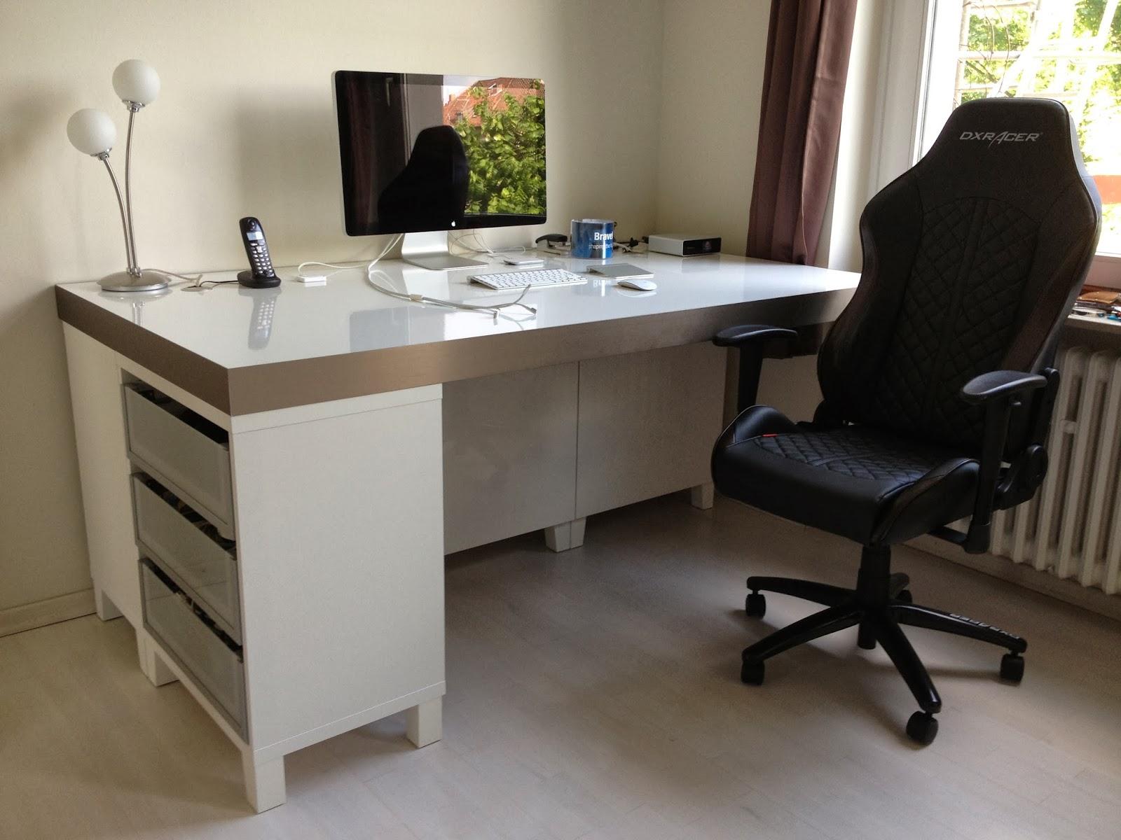 bau eines stylischen schreibtisches aus dem ikea programm. Black Bedroom Furniture Sets. Home Design Ideas