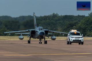 Luftwaffe German PANAVIA Tornado fighter bomber fast jet taxiing