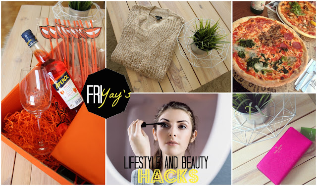 TheBlondeLion Friyays Aperol Lifestyle Beauty Hacks Kate Spade HM L'Osteria Pizza