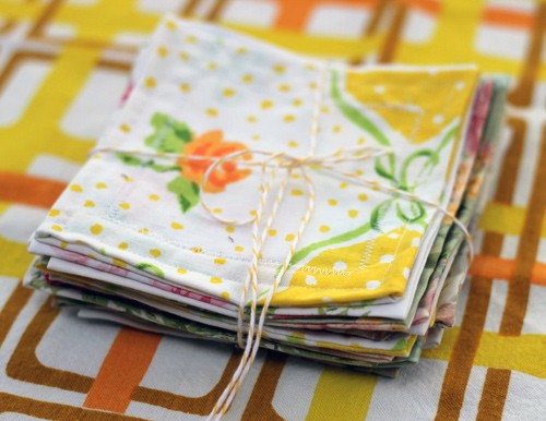 Things to sew - vintage sheet coasters