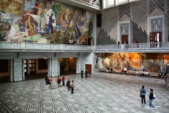 Gran salón del Ayuntamiento donde se celebra la ceremonia de entrega del Premio Nobel de la Paz