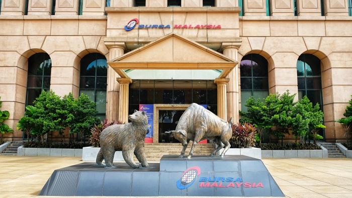 Bursa Saham Malaysia Bear and Bull Statues
