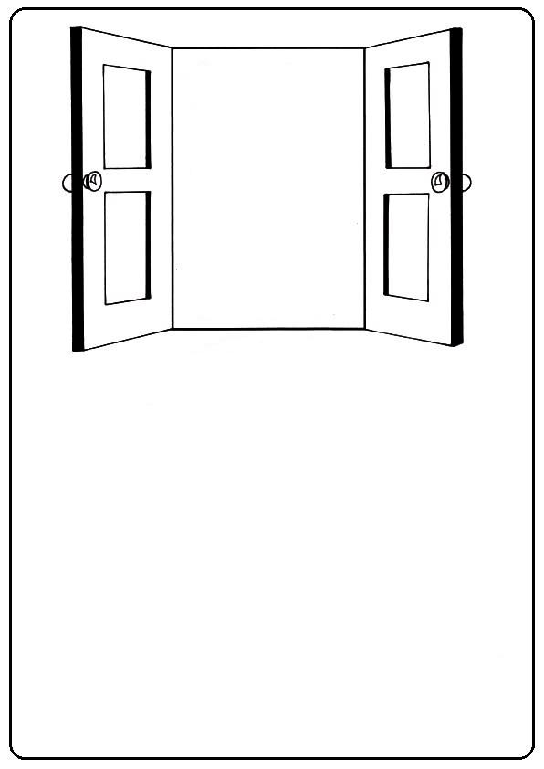 Puerta Abierta Dibujo Para Colorear Imagui