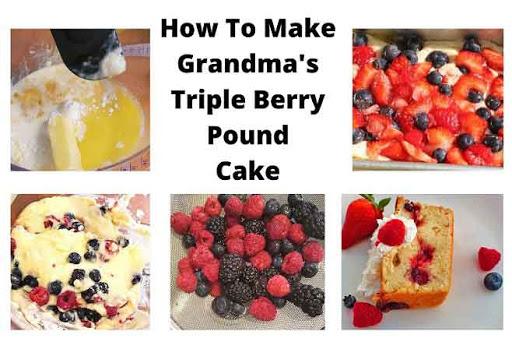 triple berry collage pound cake recipe