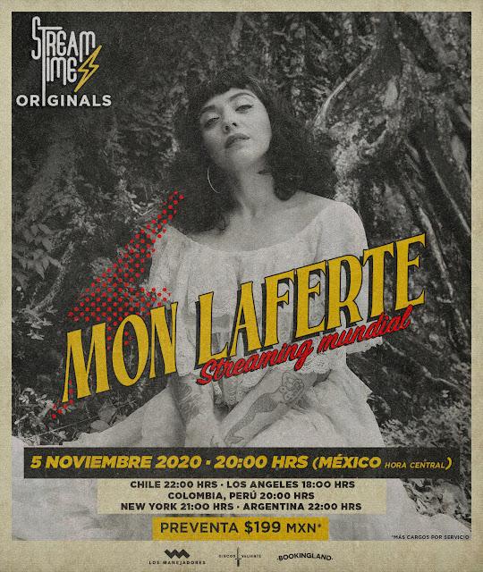 Mon Laferte presentará su primer show virtual a través de Streamtime