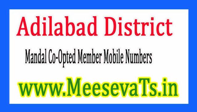 Mandal Co-Opted Member Mobile Numbers Adilabad District in Telangana State