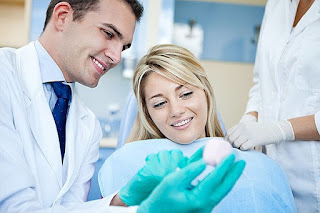 Dentist explaining treatment