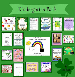 Are you feeling lucky giveaway grade Kindergarten pack