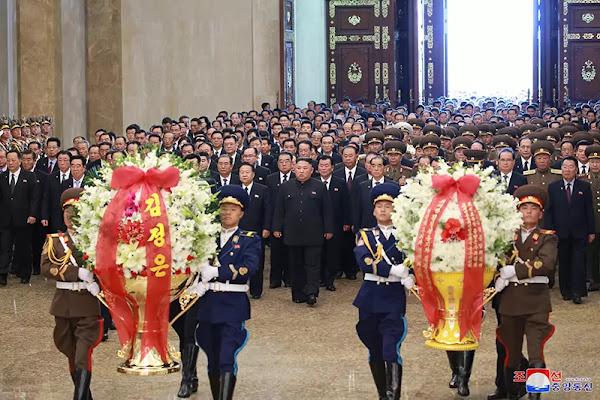 Kim Jong Un at Kumsusan Palace of Sun, July 8, 2019