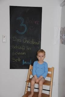 Tafelbild 3 Jahre Christkind