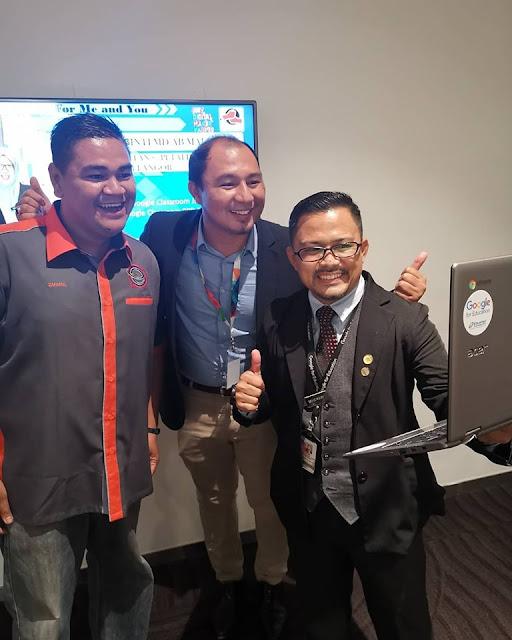 Nih team cikgu Google Classroom: Cikgu Zhafrul, saya dan Cikgu Emkay